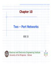 Ch09 Two-Port Networks
