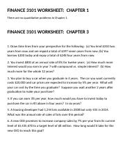 Worksheets Finance 3101 Chapters 1,3,4,5 (3)