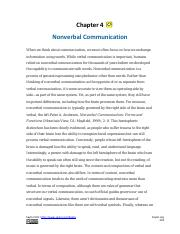 Chapter 4_Nonverbal Communication