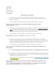 Expanding the Scope of Queries docx - Jack O'Brien SYM – 400 Prof