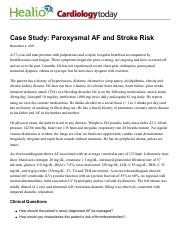 Case Study: Paroxysmal AF and Stroke Risk