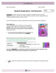 2 5 1 cell structure gizmo Select sample cells from a plant or animal and place the cells on a microscope to  look inside the cells information about their common structures is provided.
