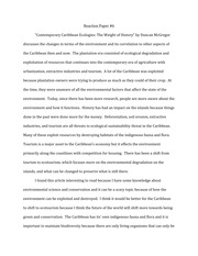 Reaction Paper #6 on Tourism
