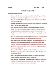 Macbeth Study Guide 2010 completed