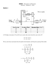 MIE301 - Midterm 2 - Solutions - 2012