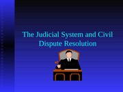 The Judicial System Notes