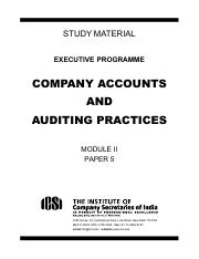 5. Company Accounts and Auditing Practices