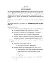 PSY 240 Test 1 Study Guide