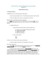 Exam 2 Study Guide (CLT3378-01), Spring 2015