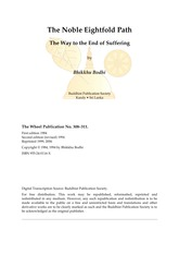 05 Noble Eightfold Path the Way to End Suffering-Bodhi