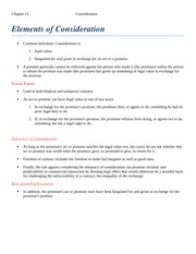 Elements of Consideration ch 12