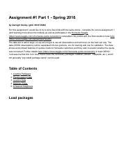 OMSCS-CS7641-Assignment1-Part1 pdf - Assignment#1 Part 1