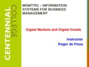 Class 10 - Internet Business Models and Strategies F14