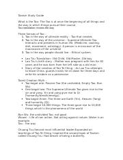 Taoism study guide