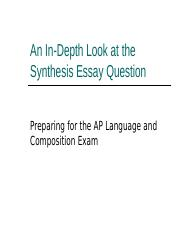 An In-Depth Look at the Synthesis Essay Question