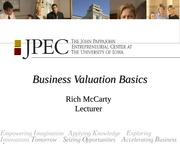 business valuation and harvest chapte 9 lecture