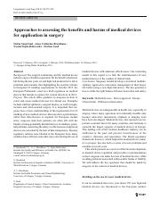 Approaches to assessing the benefits and harms of medical devices.pdf
