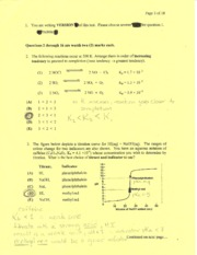 Chem 1AA3 Test 2 (Winter 2004) (Answers)