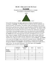 HB 489 Think and Act Like The Owner One Page premise - The Triangle