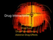 Lecture #3 Adverse Drug Effects 1-20-10