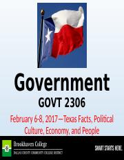 3--GOVT 2306--About Texas