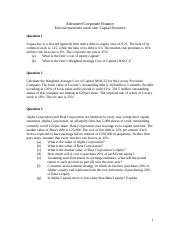Tutorial_questions_week_one_Capital_Structure.doc
