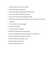 First Day Quiz