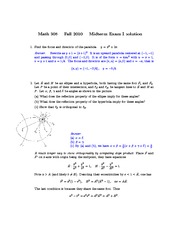 Fall 2010 midterm solution