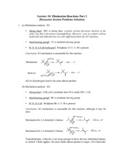 Elimination Reaction Problem Solutions 2