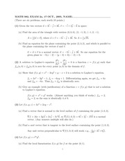 MATH 082 Fall 2005 Midterm 2 Version 1 Solutions