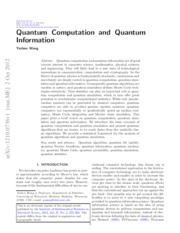 Paper on Basics of Qinfo