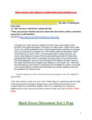 Black Power Movement Test 1 Prep.docx