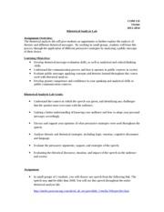 Rhetorical essay outline