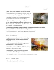 Lecture 12 notes, William Turner and 19th century German Artists