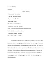 Mix Tape Essay