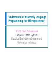 03_Assembly Language Programming (for Microprocessor)