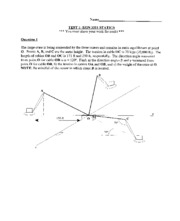 Statics S08 Test 1 with Answers