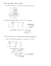 Prac Exam 2 CHEM 112 , Work-out Sheet for Addition