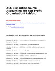 ACC 380 Entire course Accounting For non Profit Organization  Ashford.doc