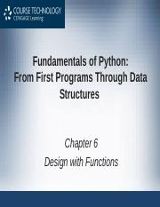Chapter 6 - Design with Functions