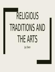 Religious Traditions and the arts.pptx