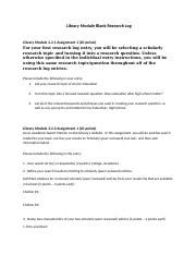 Larson and Richardson Library Module 3.2.2 Assignment 1.docx