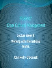 PGBM07 Week 9 Lecture