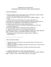 GUIDELINES for Extra Credit Reports