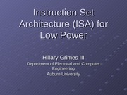 ISA for Low Power2