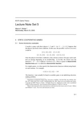 Lecture Note Set 5
