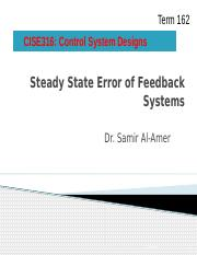CISE316_162_Review of Steady State Errors.pptx