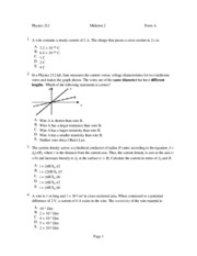 Physics 212 Exam 2 Sample 1