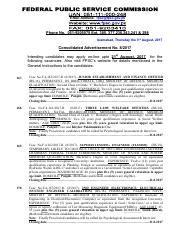 Advt-No-11-2018 pdf - E-Mail Address fpsc@fpsc gov pk Phone