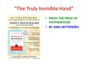 "Lecture Notes on ""The Truly Invisible Hand"": Critten"